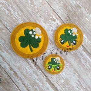 Coin St Patties Day St Patricks Day Shamrock Smiley feltie