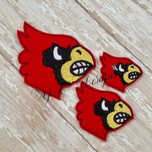 Cardinal Digital machine embroidery feltie file in multiple sizes
