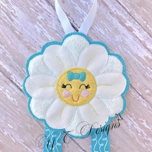 Daisy 3D Klippie Clippie Clip Hairbow Bow Keeper Machine Embroidery file