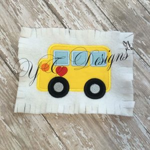 School Bus Applique