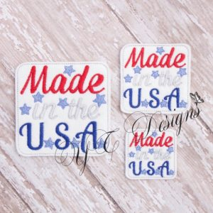 Made in the USA wordie Embroidery File