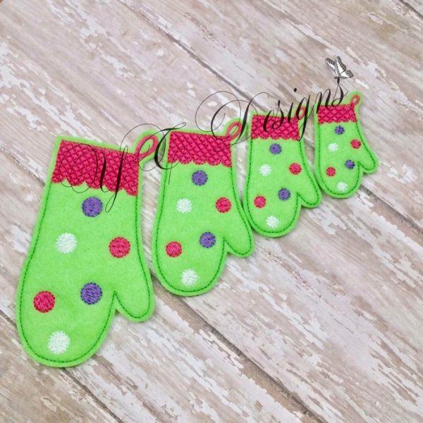 Christmas Oven Mittfeltie