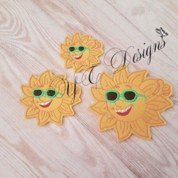 Sun Cool feltie machine embroidery file 2017