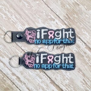 iFight 1 Key Fob Machine Embroidery File ~ OLDIE