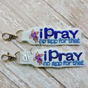 iPray Key Fob Machine Embroidery File ~ OLDIE