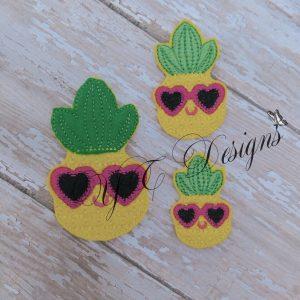 Pineapple Glasses Heart