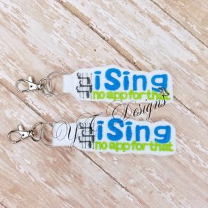 iSing Key Fob Machine Embroidery File ~ OLDIE