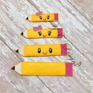 Kawaii Pencil feltie