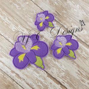 Iris flower Feltie