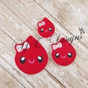 Kawaii blood tear Drop