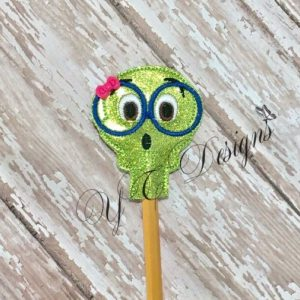 Nerdy Worm Pencil Topper