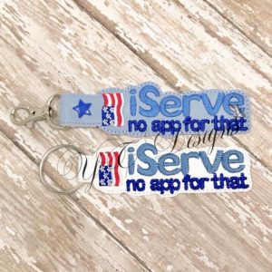 iServe Key Fob Machine Embroidery File ~ OLDIE