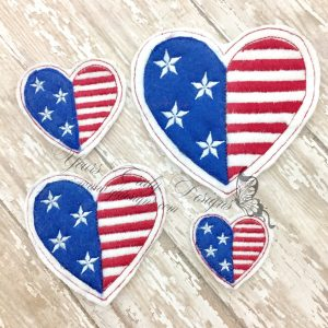 USA Heart feltie