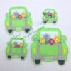Truck flowers machine Digital machine Embroidery feltie file