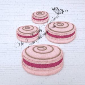 Macaron Swirly Feltie