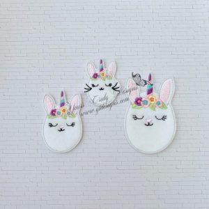 Egg Bunnycorn bunny Unicorn floral