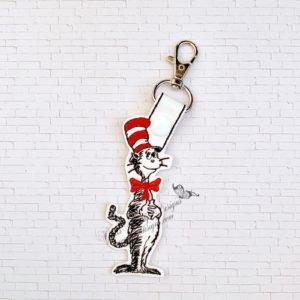 Silly Cat key fob