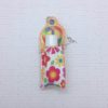 Peace Sign applique Eyelet Lip gloss chap-stick holder