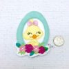 Duck in egg cutie floral