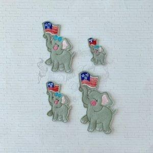 Elephant Patriotic Girl