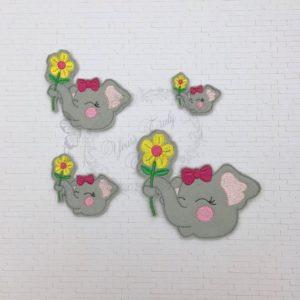 Elephant Flower girl HEAD feltie