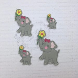 Elephant Flower girl feltie