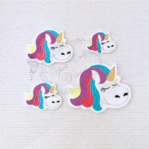 Unicorn sleepy head feltie