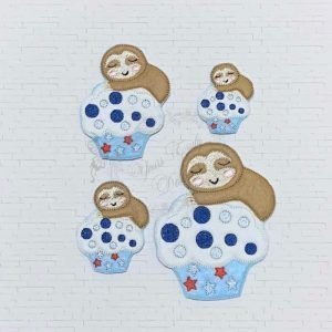 YTD Cupcake Patriotic With A Sloth A