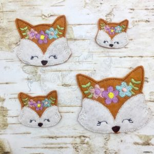 Fall Friends Fox Floral head