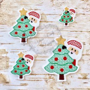 Christmas Peeker Santa Feltie
