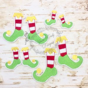 Christmas Elf feet boy fill