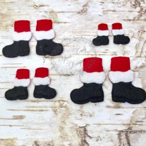 Christmas Santa Bow Parts Feet