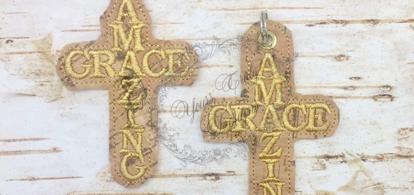 Amazing Grace Cross Eyelet