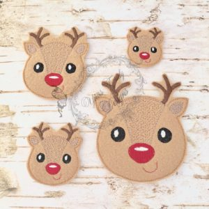 Christmas Peeker REINDEER BOY HEAD