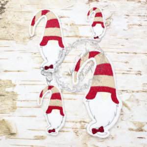 Christmas Gnome Candy Cane Head