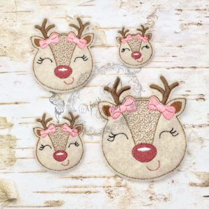 Christmas Peeker REINDEER GIRL HEAD