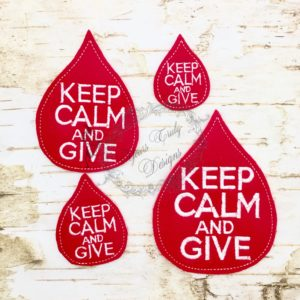 Blood Drop Keep Kalm calm and Give