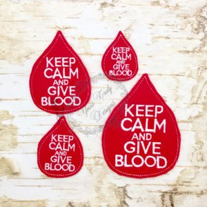 Blood Drop Keep Kalm calm and Give blood