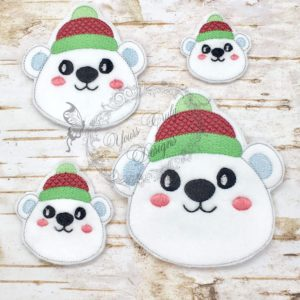 Christmas Peeker Polar bear BOY HEAD