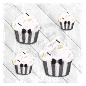 Cupcake New Year Bow Tie
