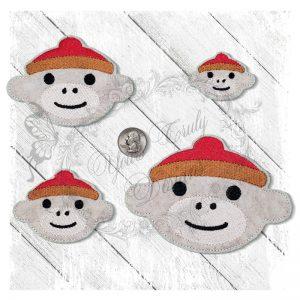 Sock Monkey1 Boy Head