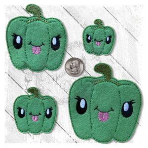 Veggie Cute Pepper Green