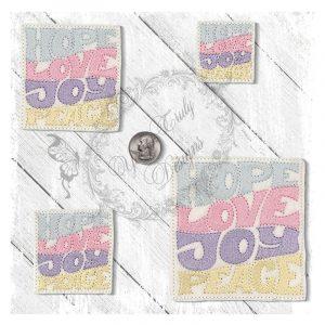Hope Love Peace Joy Square