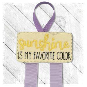 Sunshine Is My Favorite Color KK