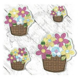 Spring Basket Floral 1